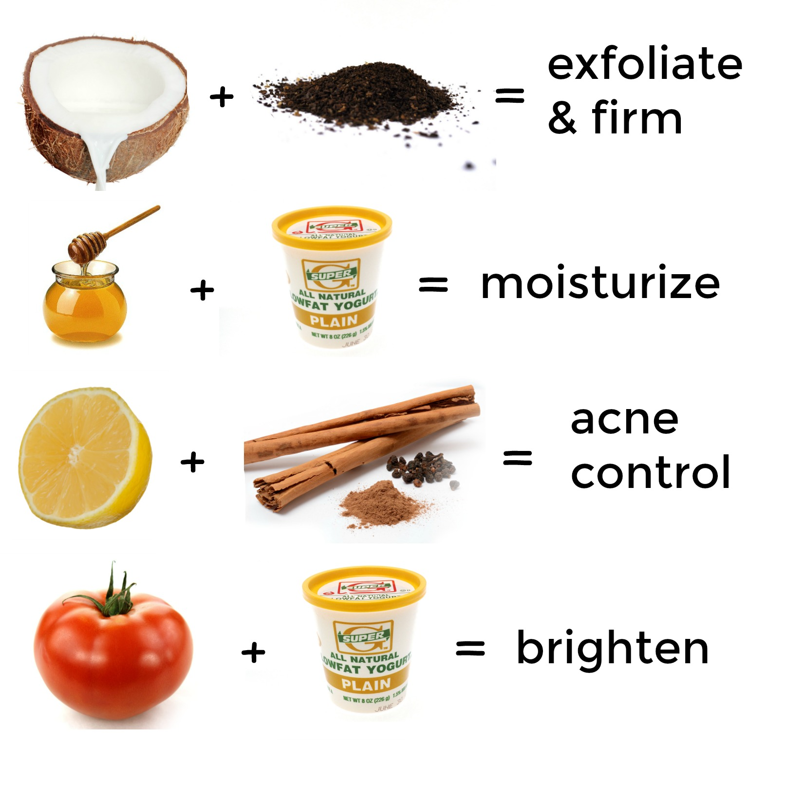 3 All Natural Diy Face Masks: 2 Ingredient D.I.Y. Face Masks For Every Skin Type