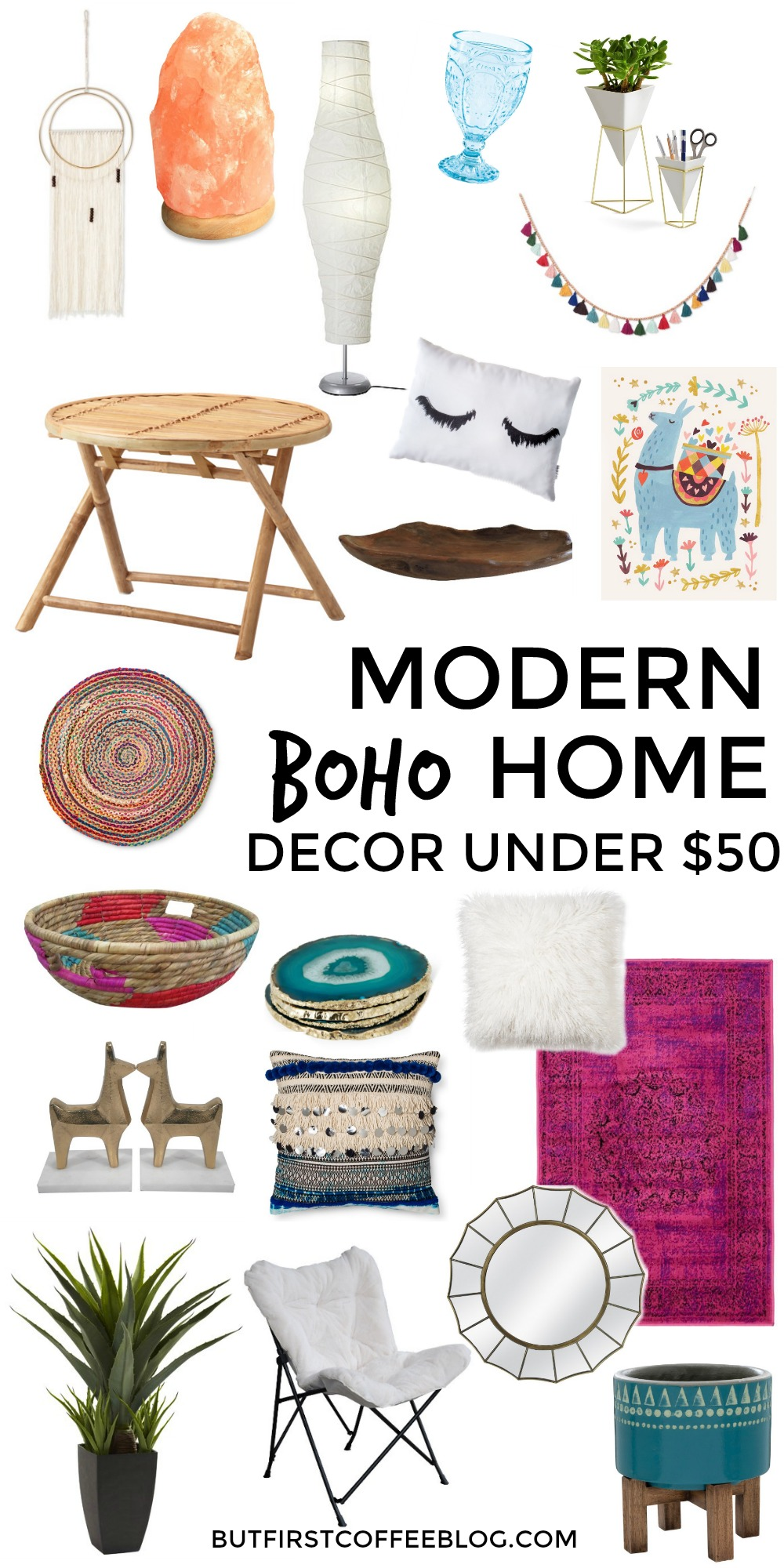 Modern boho home decor that you can get for under 50 for Home decor 50s