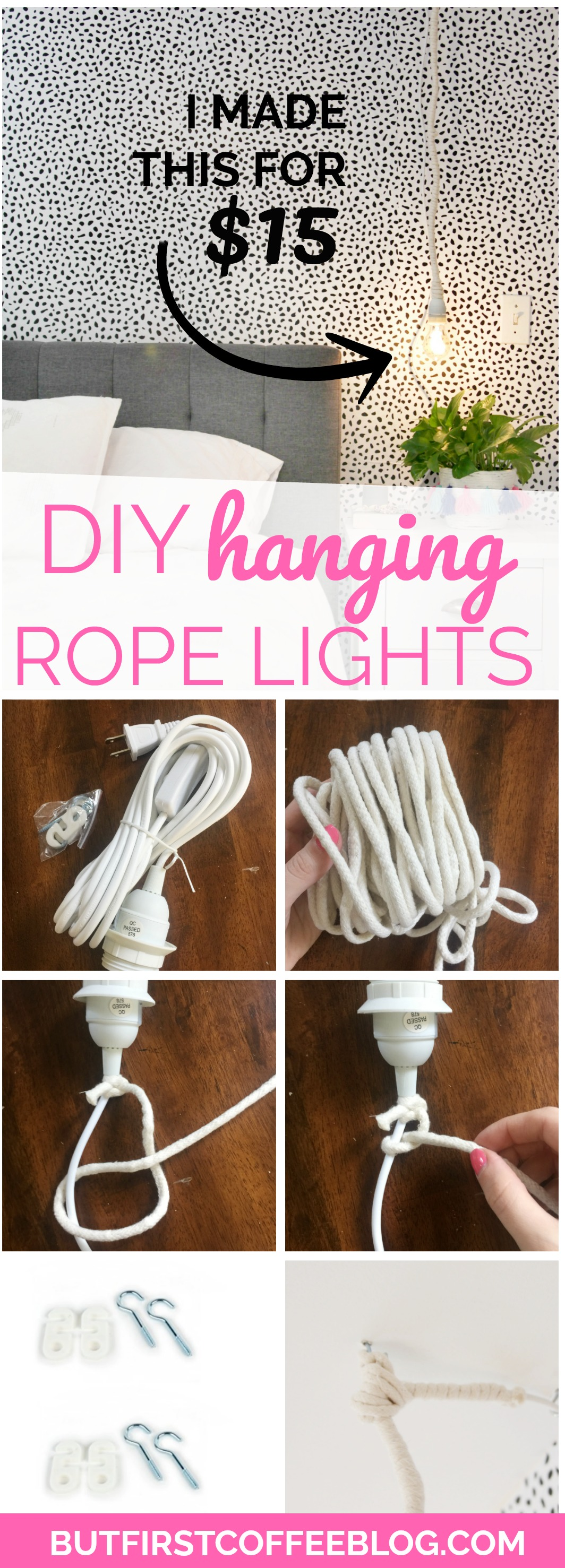 How To Make The Diy Hanging Rope Lights Loop Line Lamps