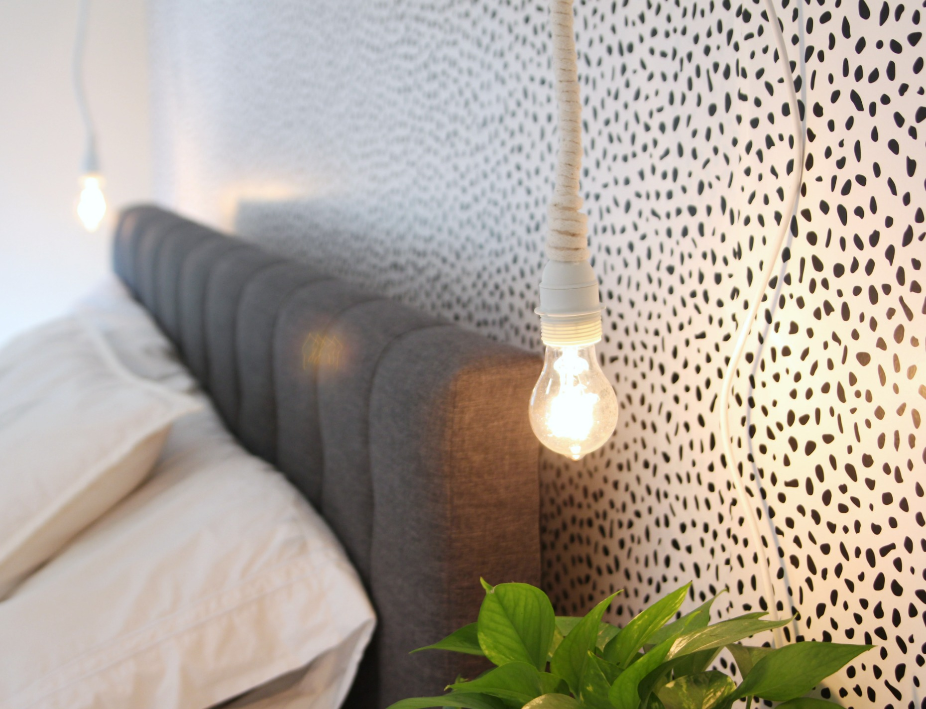 How to Make the DIY Hanging Rope Lights/ Loop Line Lamps