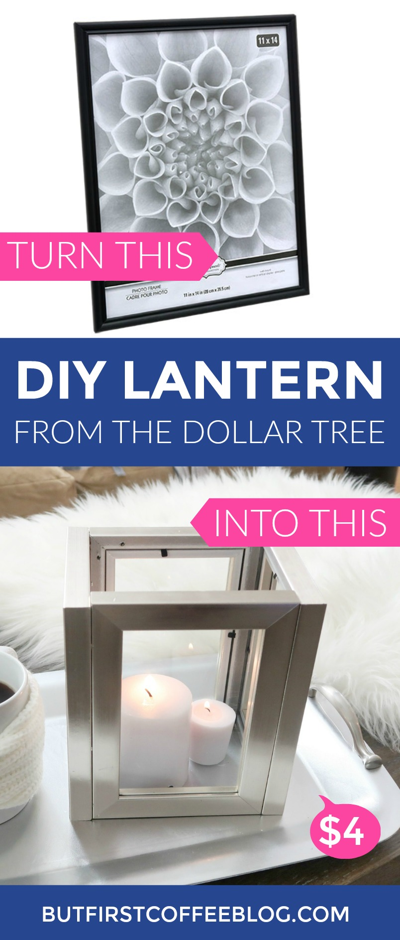 DIY Candle Lantern From the Dollar Tree | How to Make a DIY Picture Frame Lantern