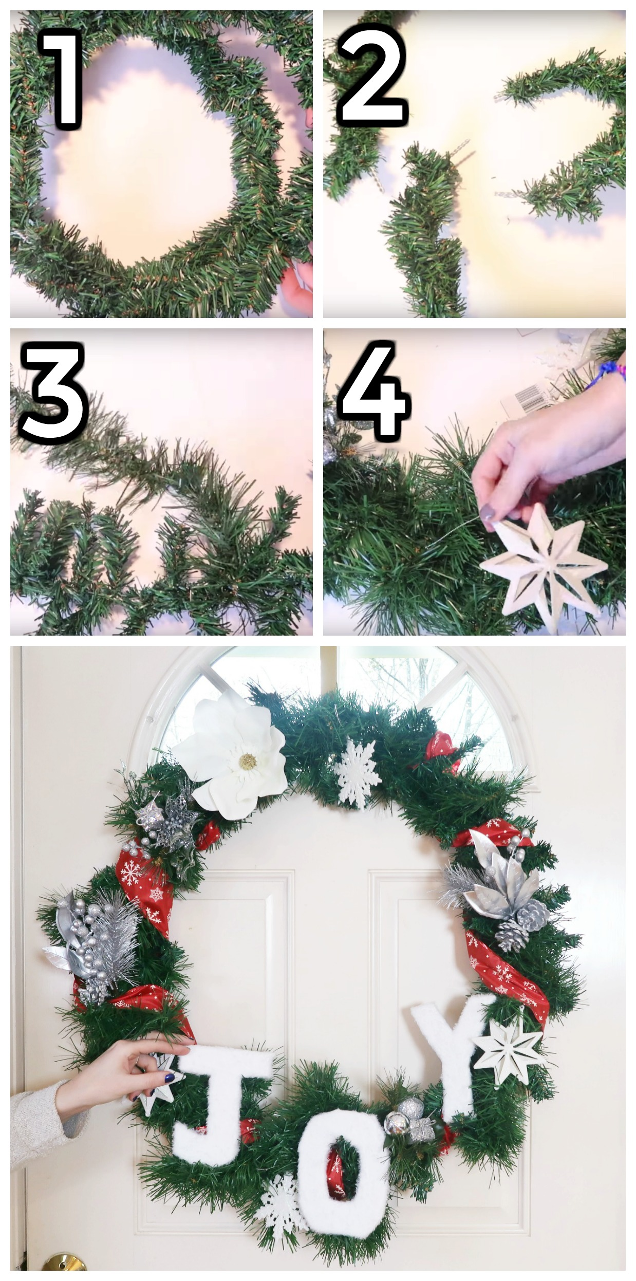How To Make A Dollar Tree Christmas Wreath Buy Or Diy