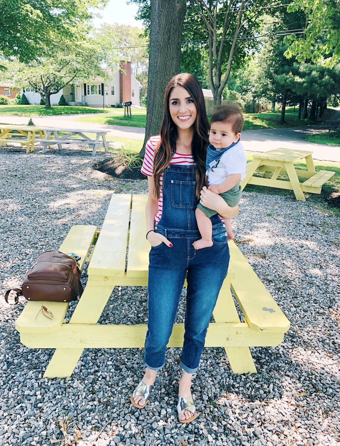 Mom Style | Overalls Jeans for July 4th
