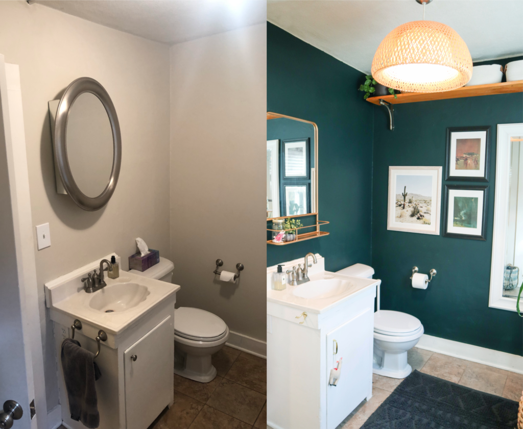 Guest Bathroom Mini-Makeover | Bathroom Before and After